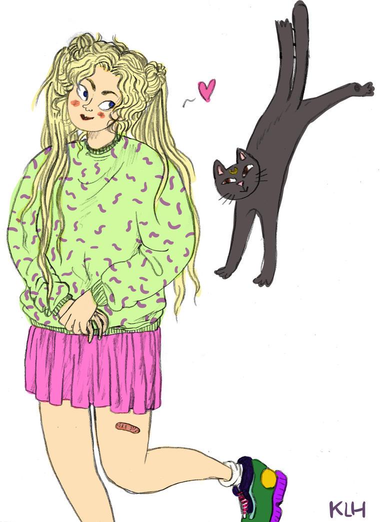 Usagi and Luna by ilikepie94