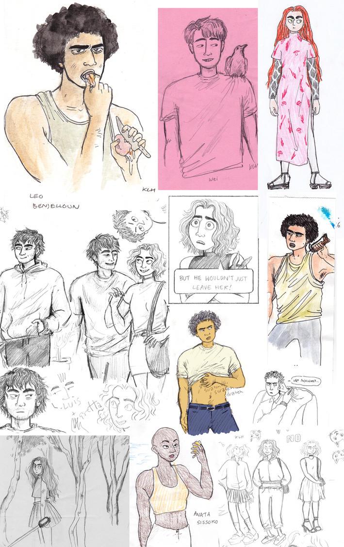 Magic People sketch dump by ilikepie94