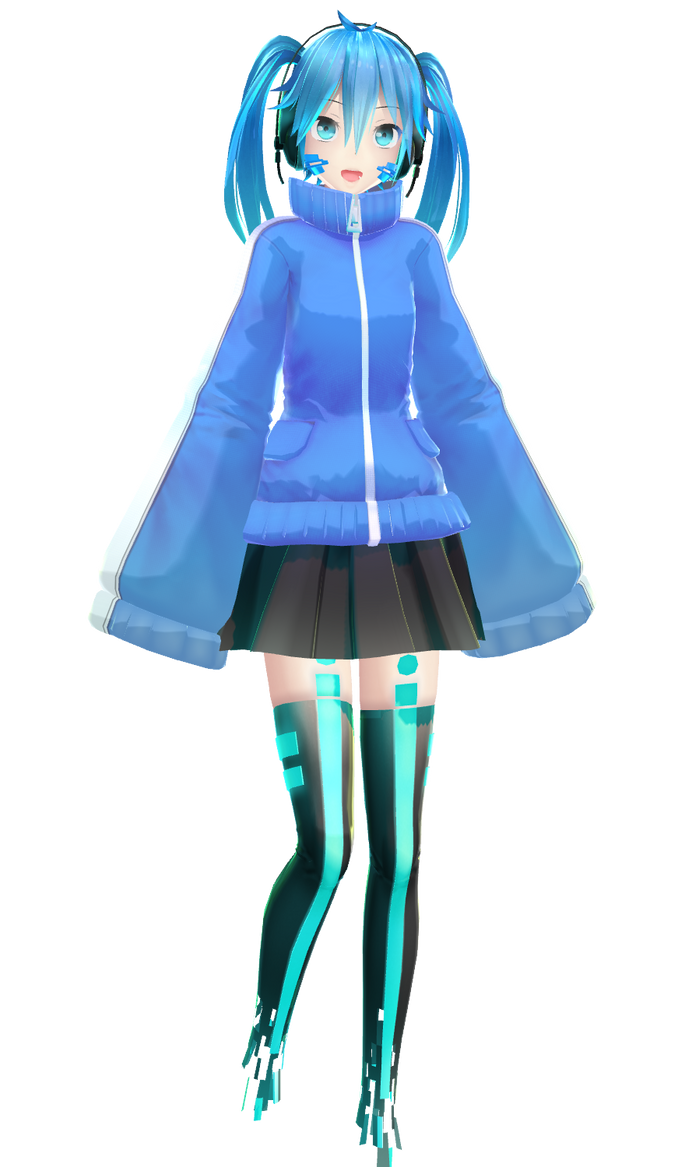 New mmd ene model by yyb dl link by vermilion333 on for Deviantart mmd