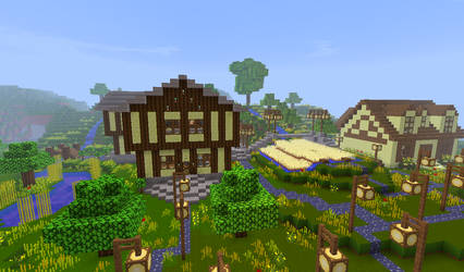 Minecraft farm by qaau74E