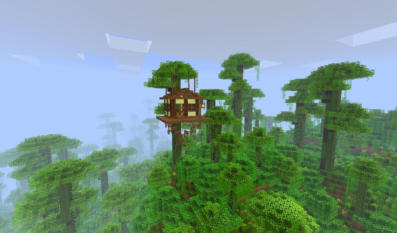 Minecraft Jungle Treehouse by qaau9E on DeviantArt