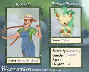 Pokemonsen Drawn App: Sonya St. Joan