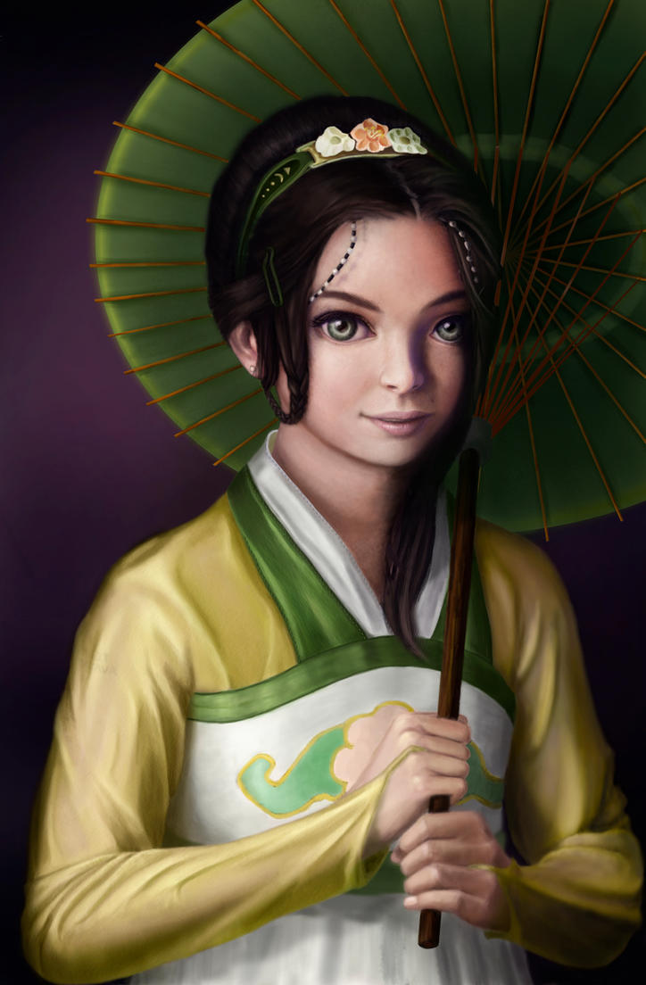 Toph Bei Fong : work in progress (back then) by reygay