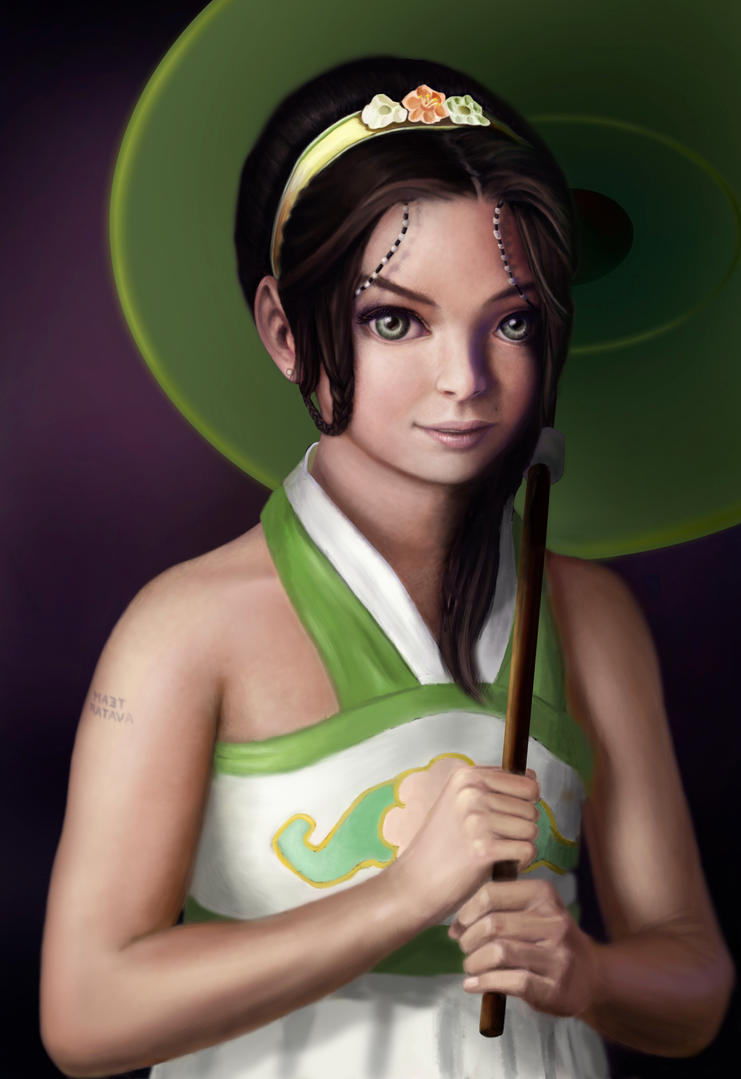 Toph Bei Fong : work in progress 2 (back then) by reygay