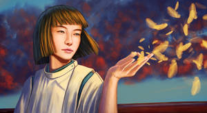 Haku from Spirited Away : digital drawing