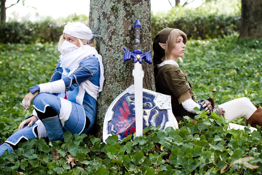 AWA 2010 - Zelda | Link + Sheik by elysiagriffin