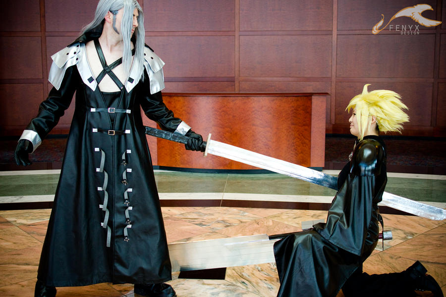 FFVII: Sephiroth + Cloud 05 by elysiagriffin