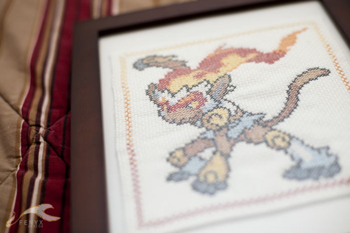 Cross Stitch: Infernape by elysiagriffin