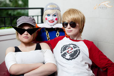 KatsuCon 2012 - Homestuck   Lil Cal, Sis, Dave by elysiagriffin