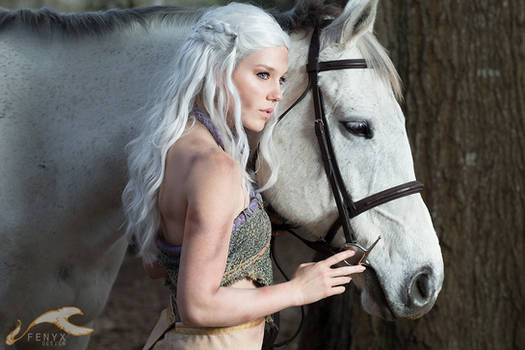 Game of Thrones | Daenerys + Silver by elysiagriffin