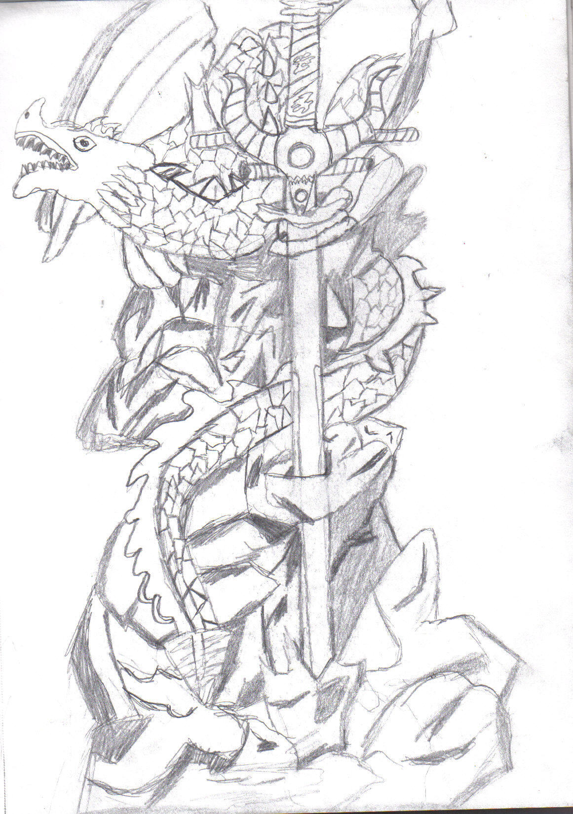 dragon letter opener  b by camcorderishawd on deviantart
