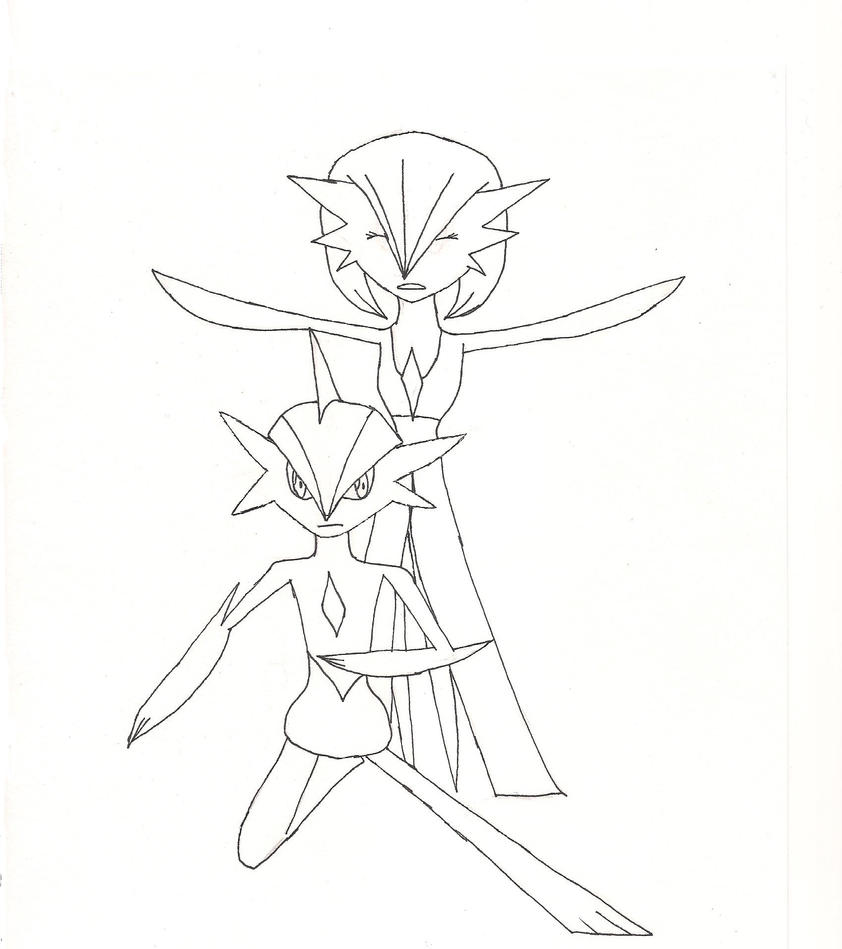 gallade coloring pages - photo#23
