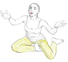 June pose drawing challenge 02