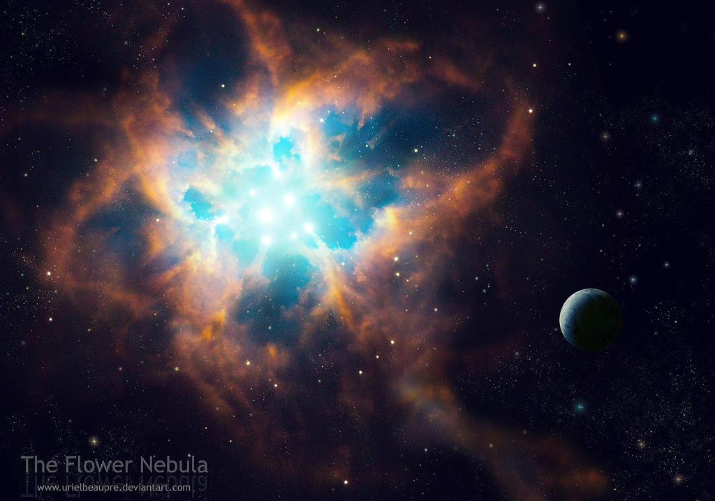 the flower nebula by urielbeaupre