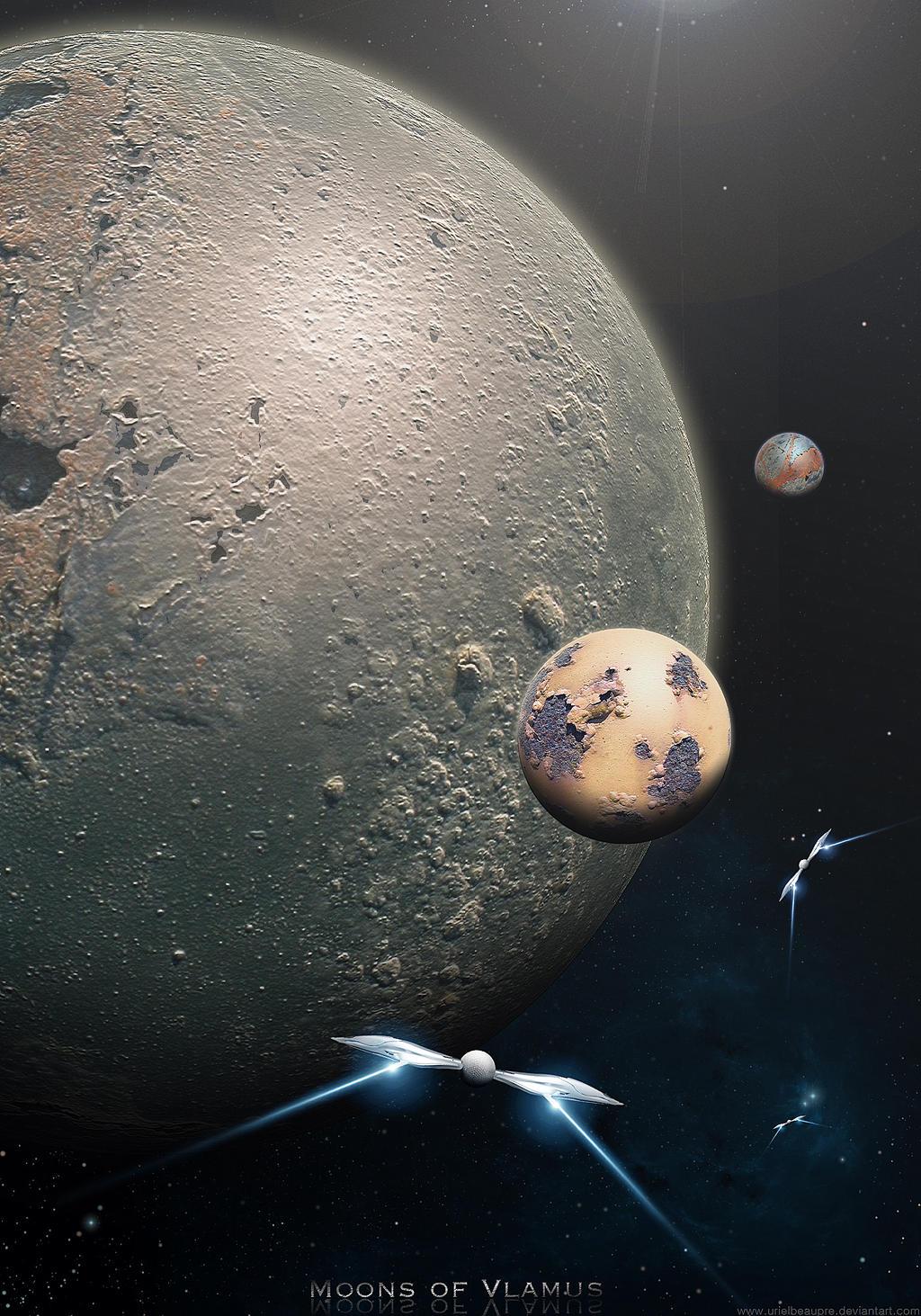 moons of vlamus by urielbeaupre