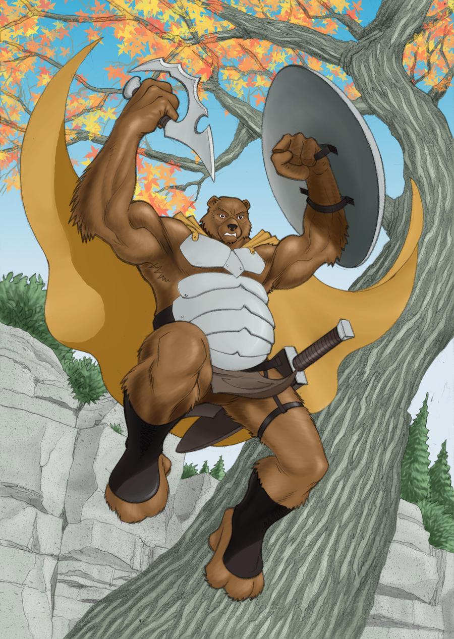 teddy the bear warrior by stevesafir