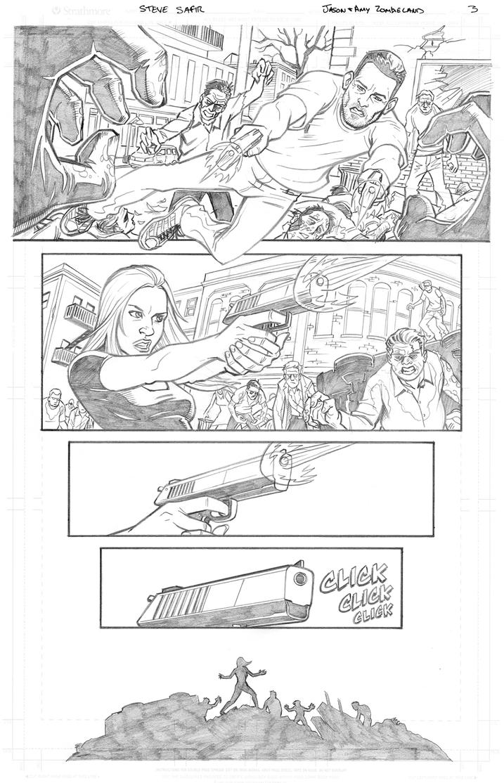 zombieland page 3 pencils by stevesafir