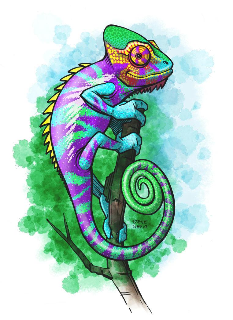panther chameleon purple bar by stevesafir