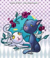 Cats'n'Roses by eloelo