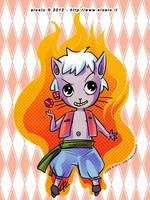 Flame Cat by eloelo