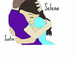Justin Bieber + Selena Gomez by RoSe--PeTaLs