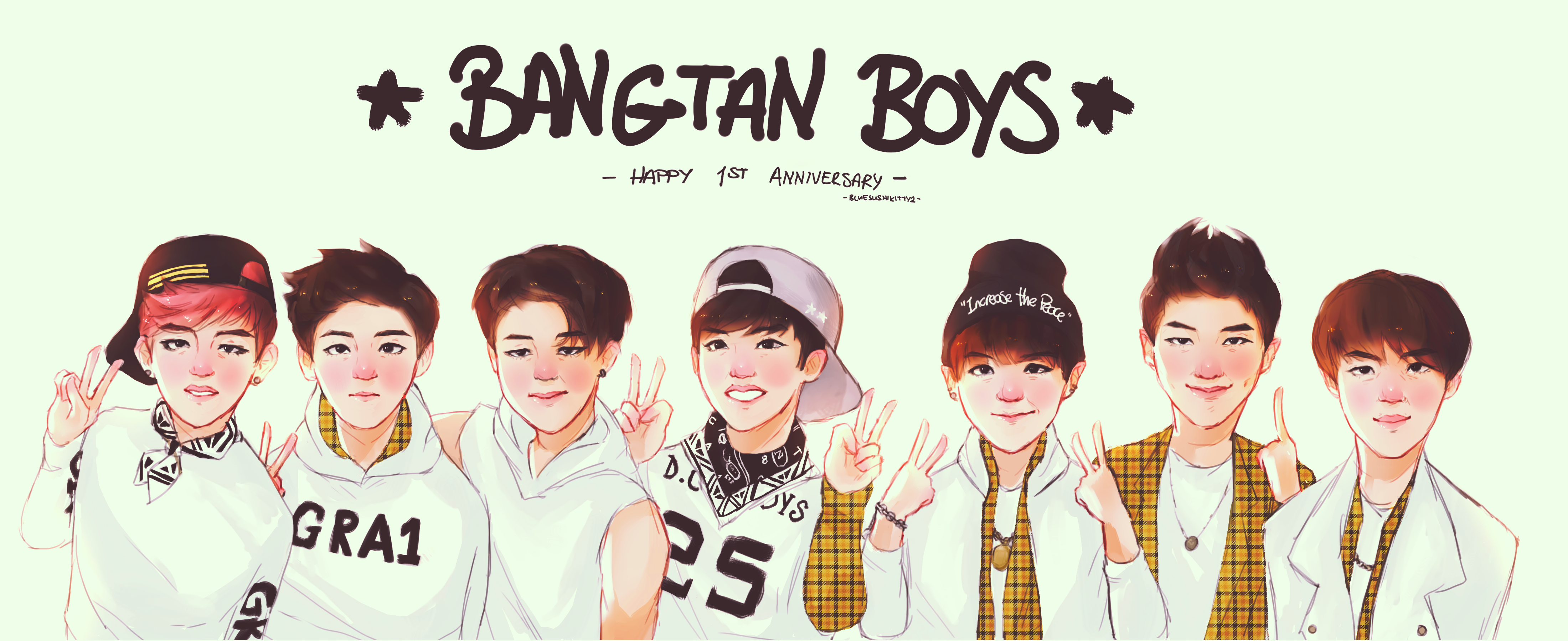 bts 1st anniversary project by bluesushikitty2 on