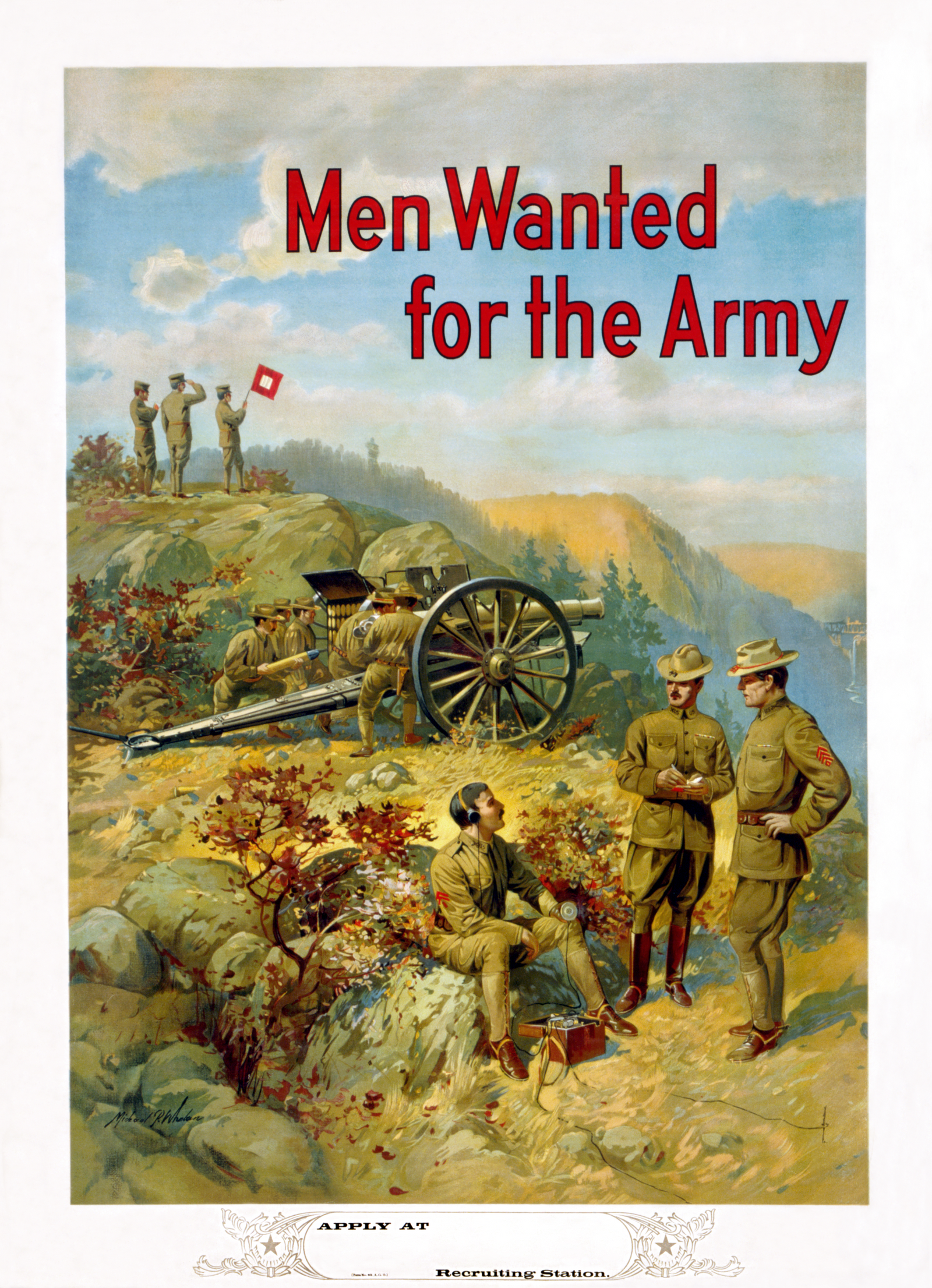 Pre-World War I U.S. Army Recruitment Poster