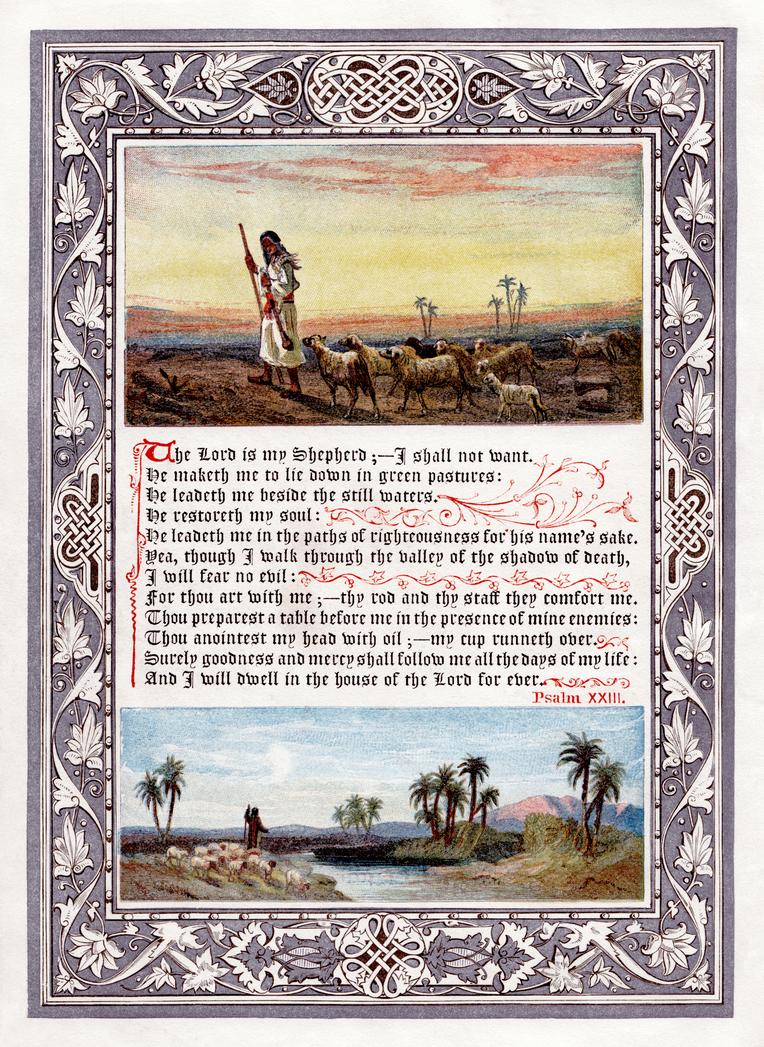 Psalm 23 restoration by AdamCuerden