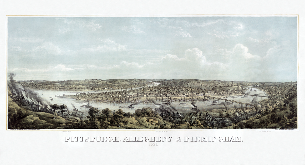 Pittsburgh, PA 1871 restorat'n by AdamCuerden