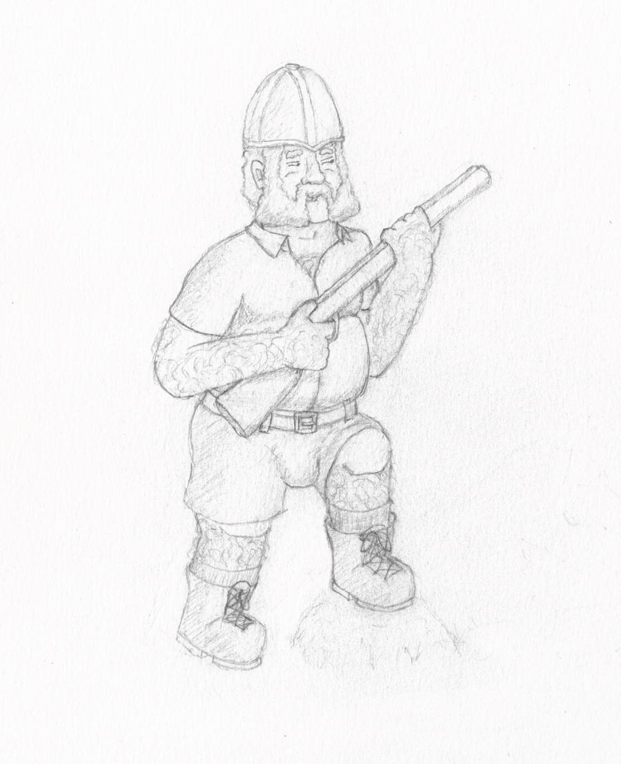 Archibald Hastings, Jungle Explorer (and dwarf) by AdamCuerden