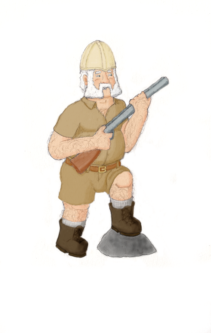 Archibald Hastings, Jungle Explorer colour by AdamCuerden