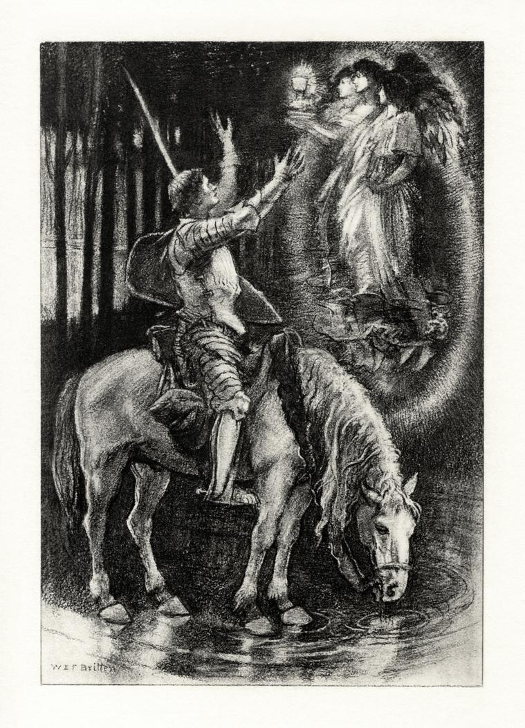 Tennyson's Sir Galahad restoration by AdamCuerden