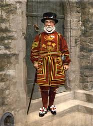 A Yeoman of the Guard, c. 1895, restoration by AdamCuerden