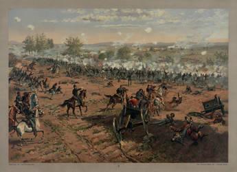 Battle of Gettysburg (Pickett's Charge) restorat'n by AdamCuerden
