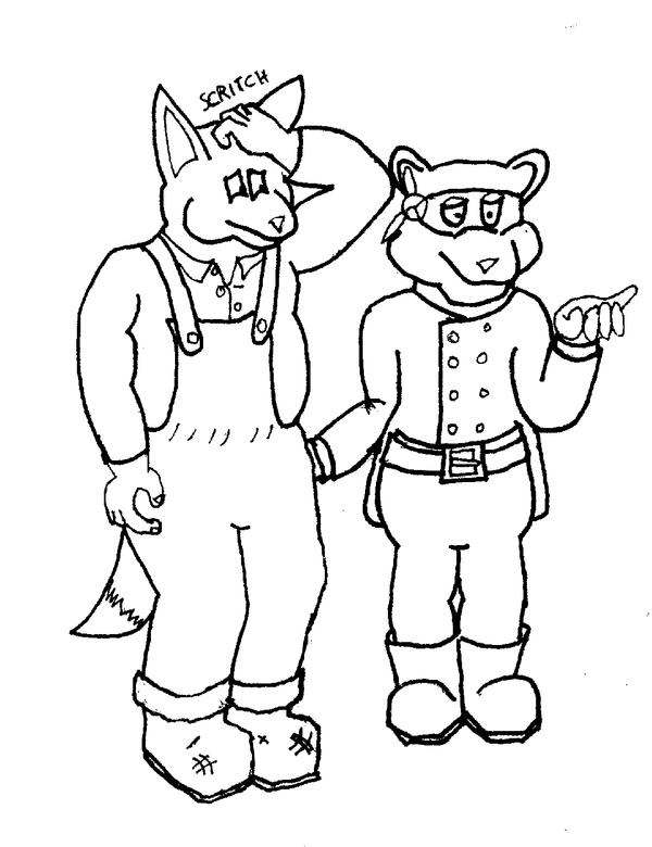 Fox and Coon by AdamCuerden