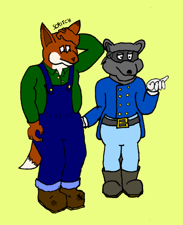 Fox and Coon Colour by AdamCuerden