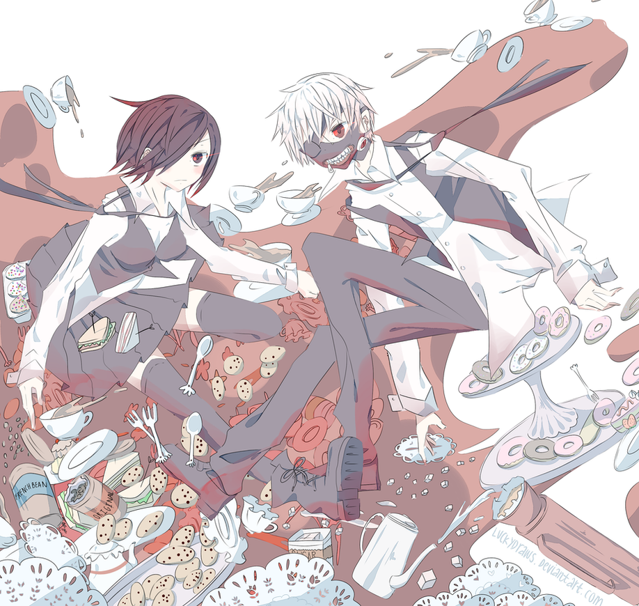 Tokyo Ghoul by luckydraws