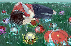 Pokemon Red Drawing + SpeedPaint by luckydraws