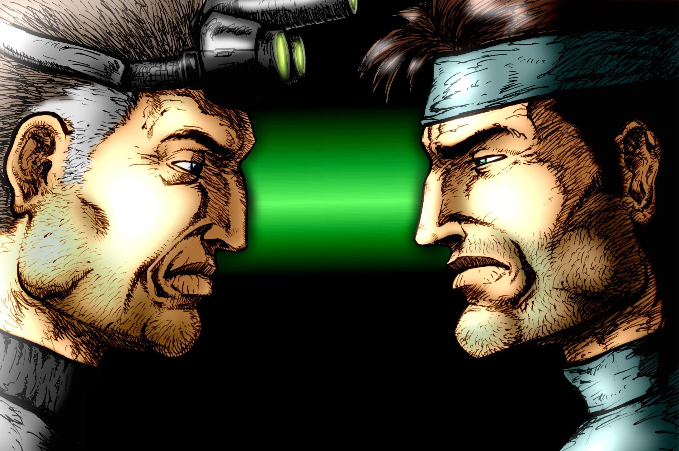 Sam Fisher VS Solid Snake by kleju