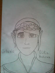Elfia krolowa Octavia: Simowe opowiesci by AronMR68