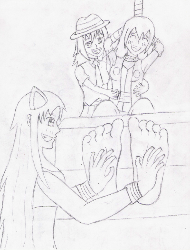 Tickling a Ninja girl by master417