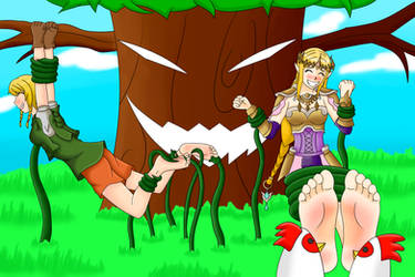 Link-Lee and Zelda in a trouble by master417