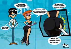 Dexter's mom: Happy new year, Mandark by Linkartoon