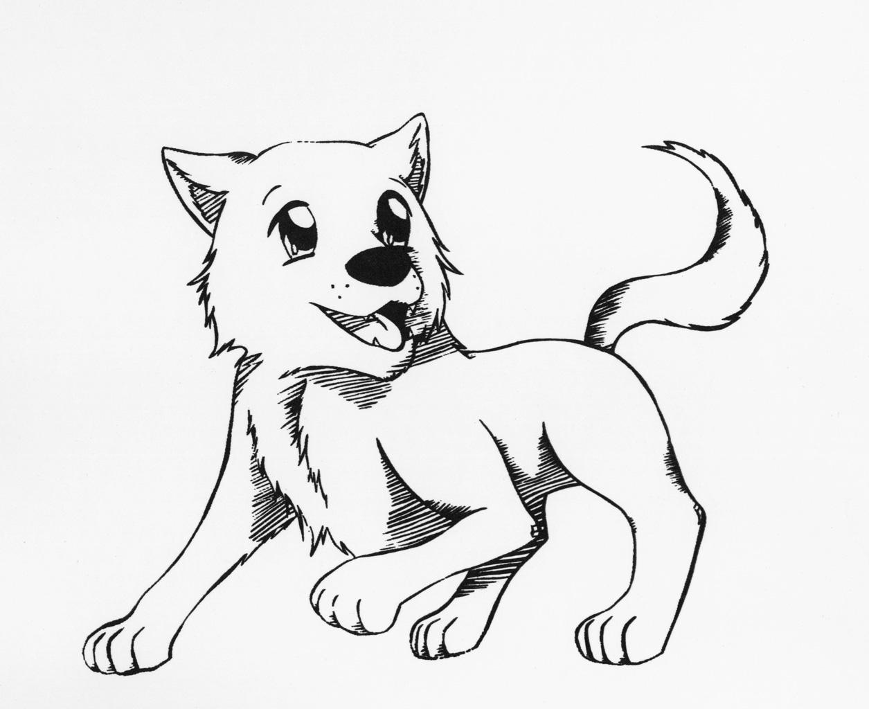 chibi wolf print by shibalove on deviantart