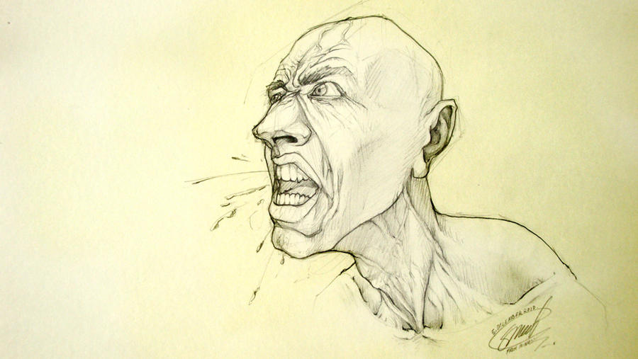 crazy,anger,stress.Face sketch by s-k-g91 on DeviantArt