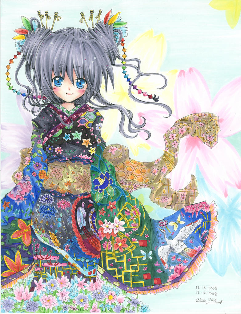 Girl in Kimono by romelfrost on DeviantArt | Character