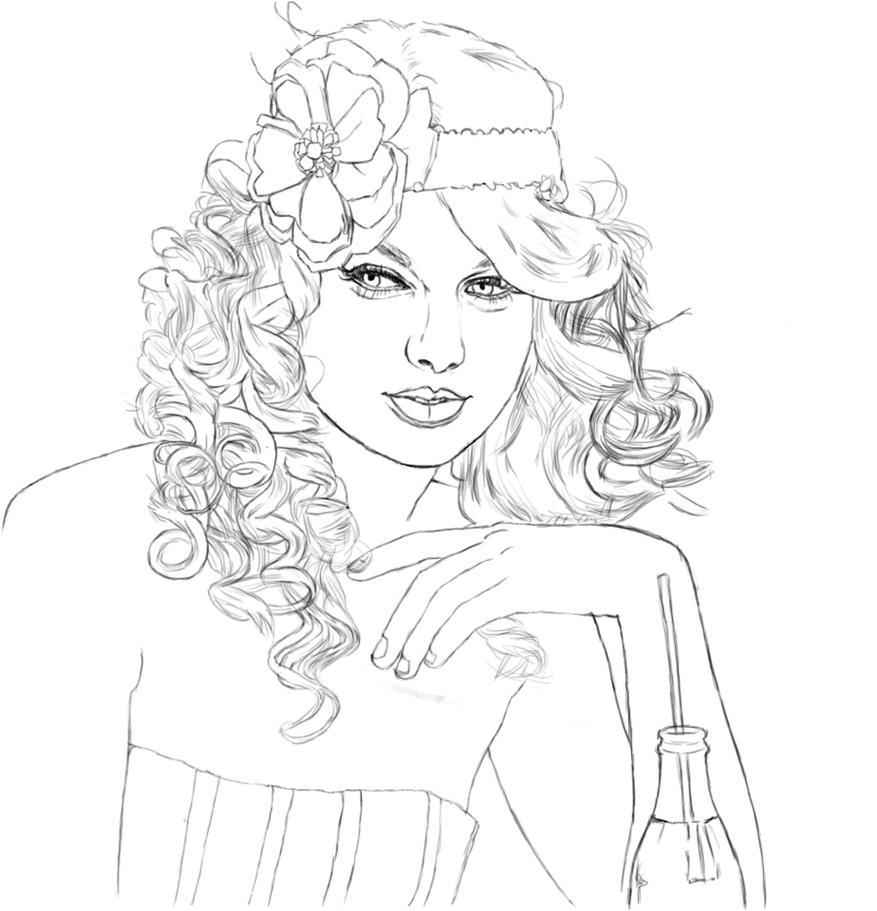 Drawing Lines With Swift : Taylor swift sketch by calliefink on deviantart