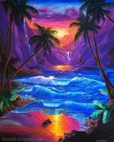 Sunset paradise by CallieFink