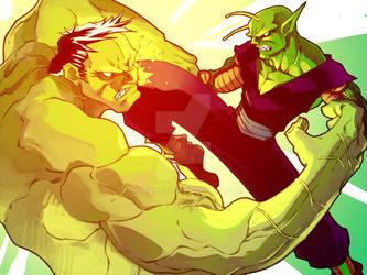 Piccolo vs Hulk by wheaman