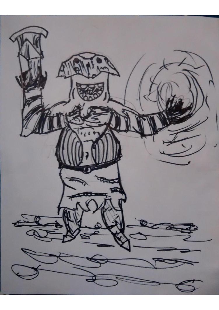 Mushroom ogre by KosmikWarrior